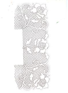 patron de bolillos Bobbin Lace Patterns, Embroidery Patterns, Knit Or Crochet, Irish Crochet, Bobbin Lacemaking, Lace Painting, Lace Art, Art Textile, Point Lace