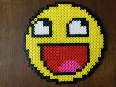 Smiley perler beads by LadyRaveicorn