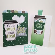 Stamp Review Crew - Coffee Café Bundle. You're So Sweet treat bag and note card. Juana Create.