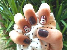 Rabits nail by me  Nail Art.