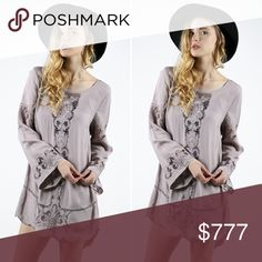 COMING SOON! Like to be notified when it arrives! Lace cut out Tunic is 100% rayon. Will retail for $44. Will have 2 small 1 medium and 1 large. True to size. Currently only available in my VIP group. LIKE TO BE NOTIFIED WHEN ITS AVAILABLE! Tops Tunics