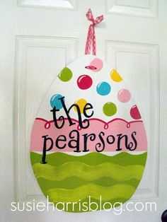 Easter Door Decor (via susieharrisblog.com)