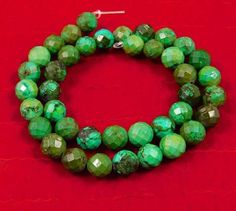 226 Cts.  Natural 8x8mm Faceted Tibetan Turquoise Beads Strand Cut (NH301) #NagmaGems