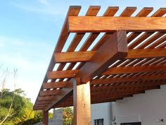 Timber Pergola, Outdoor Pergola, Yard Sheds, Terrace Garden Design, Building A Pergola, Pergola Designs, Outdoor Gardens, New Homes, Home And Garden
