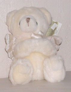 BEAR TEDDY ANGEL RUSS TEDDY ANGEL BEAR HOLDS CROSS NEW our store link http://stores.ebay.com/store4angels?refid=store come see our store front always have great sales
