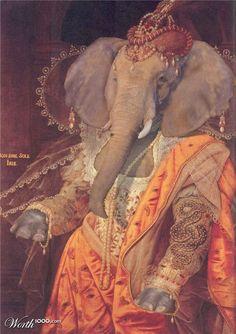 Animal Renaissance 7 - Worth1000 Contests.           Elizaphant
