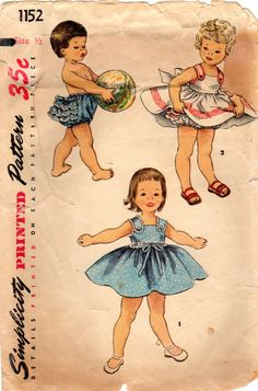 1950s Simplicity 1152 Vintage Sewing Pattern by midvalecottage