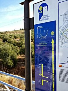Cártel informativo del #CaminodeSantiago Mozárabe en Cabra, #Córdoba