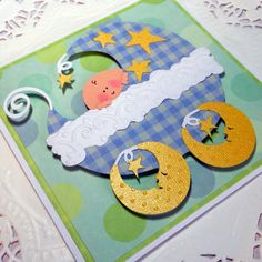 New Baby Boy Card  Blue Plaidl Stroller by PuppyLoveCreations, $4.25