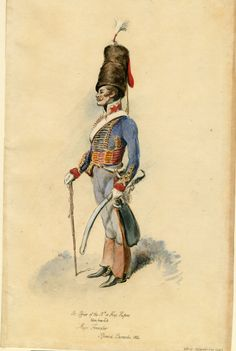 British; 15th (King's) Hussars, Major Forrester at Ipswich Barracks 1804 by Dennis Dighton