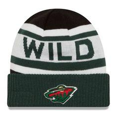 891836cc10d Minnesota Wild New Era Youth Biggest Fan 2.0 Cuffed Knit Hat - White