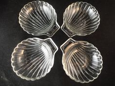 Vintage Pyrex Glass Shell Shaped Serving Dishes