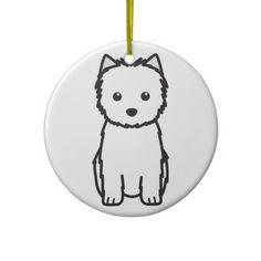 Cairn Terrier Dog Cartoon Ornament