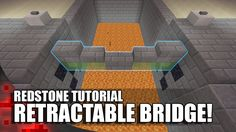 (Xbox Playstation Redstone Tutorial: How to build a Working Bridge that doesn't require you to touch slime blocks! Minecraft Crafts, Minecraft Redstone Creations, Minecraft Secrets, Minecraft Building Guide, Minecraft Farm, Easy Minecraft Houses, Minecraft House Tutorials, Minecraft Plans, Amazing Minecraft