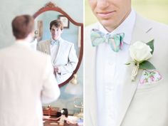 groom style. bow tie and hankie