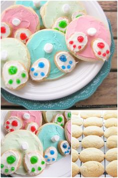 Easter bunny bottom sugar cookies