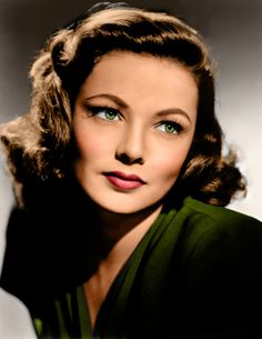 Gene Tierney. (Colorized Photo).