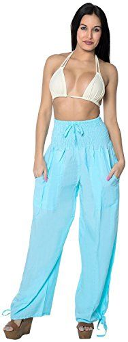 Rayon Plain Drawstring Lounge Pajama Beachwear Women Yoga Joggers Pant Turquoise Valentines Day Gifts 2017 *** Check out the image by visiting the link. Jogger Pants, Joggers, Harem Pants, Pajama Pants, Beachwear For Women, Women Swimsuits, Maternity Swimwear, Valentine Day Gifts, Valentines
