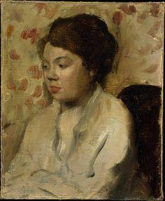 Edgar Degas (French, Paris 1834–1917 Paris)  Portrait of a Young Woman