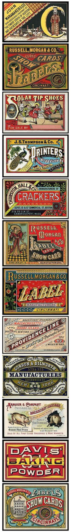 Typography - Typography Business Cards straight out of the Victorian Era via - CoDesign Magazine Vintage Type, Vintage Prints, Vintage Posters, Vintage Designs, Vintage Art, Vintage Graphic, Business Card Maker, Business Card Design, Vintage Packaging