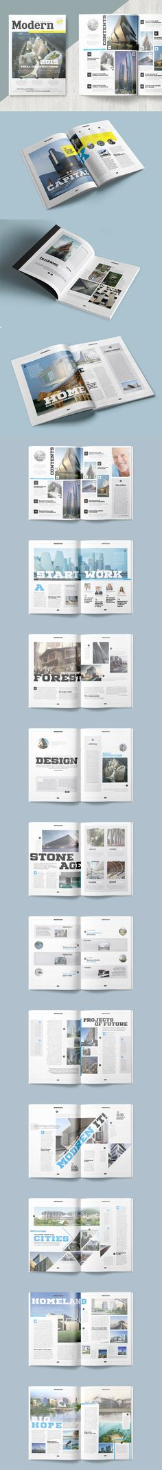 30 Pages Magazine Template InDesign INDD