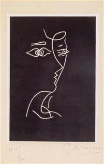 """""""Le tir à l'arc"""" By Georges Braque ,1960"""