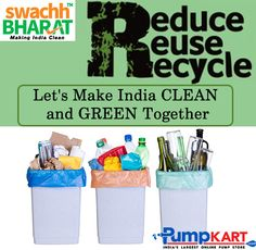 Instead of throwing something away, #reuse or #recycle it and keep #India #clean and #green. keep following #Swachh #Bharat #Abhiyan