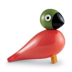 Songbird Pop in painted wood. Design: Kay Bojesen 1950's. From Illums Bolighus