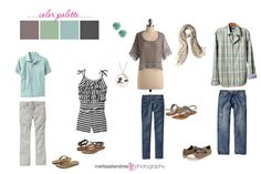ideas for family photo outfit ideas (color schemes)