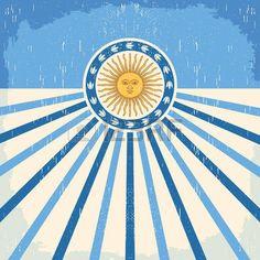 Tarjeta abstracta de la vendimia Argentina - cartel ilustración vectorial, colores de la bandera Argentina, efectos del grunge se puede quitar fácilmente World 2020, San Martin, Pizza Party, Empanadas, Paw Patrol, Geography, Aviation, Grunge, Around The Worlds