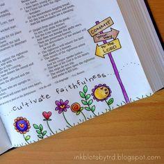 Provers 3;5 Ink Blots by TRD: Adventures in Bible art & journaling :: Week 7