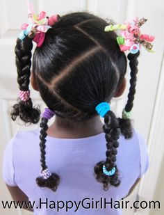 4 Braids w/ Zigzag Parts