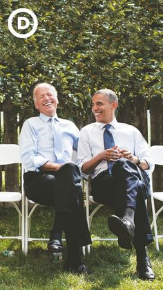 President Obama relaxing with VP Biden