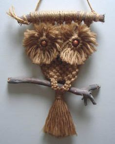 Little brown macrame owl