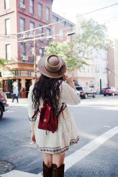 boho dress, satchel bag | Noelle's Favorite Things
