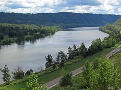 Much of the Ohio River's route was was established during the Pleistocene Ice Age by  continental glaciers that blocked the Teays River.