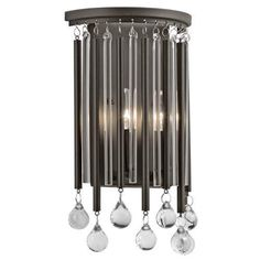 Kichler Piper 2 Light 8  Wide ADA Compliant Wall Sconce with Metal and