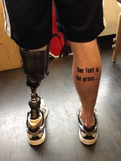 Fantastic leg tattoo | High Octane Humor