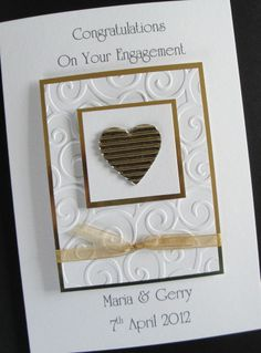 1000 Ideas About Handmade Engagement Cards On Pinterest