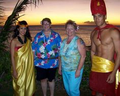 Luau and a sunset. Submitted by Robin Christenson on Facebook. #pinHawaii