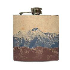 Mountain Whiskey Flask