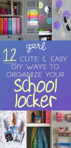 DIY Locker - 12 Cute And Easy DIY Ways To Organize Your School Locker back to school parent, back to school sayings kids, preschool back to school ideas