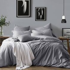 When this question comes that What is a Duvet? This Duvet is a bedding type that is teeming with Soft Down, Feathers or many artificial alternatives. Luxury Bedding Collections, Luxury Bedding Sets, Modern Bedding, Joss And Main, Duvet Cover Sets, Comforter Sets, Gray Comforter, Upholstered Platform Bed, Adjustable Beds