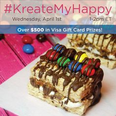 Join us for just-for-you treat ideas at the #KreateMyHappy Twitter party on April 1st at 1pm EST! #client #cbias