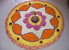 Pookalam Patterns for Beginners, Best Onam Pookalam Designs