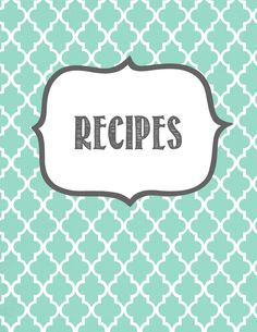 Making It In The Mitten: Recipe Binder Printables