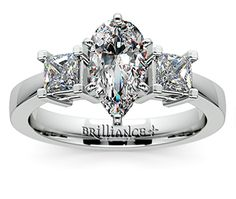Pear Princess Diamond Engagement Ring in White Gold http://www.brilliance.com/engagement-rings/princess-diamond-ring-white-gold-1/2-ctw