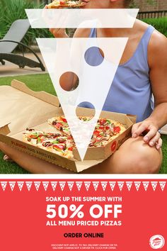 Looking for easy summer eats? Let dinner come to you when you get Pizza Huts 50% off menu-priced pizzas delivered. You can kick back and enjoy all to yourself, or get plenty to share for friends or family dinner. Available online only through 7/23.