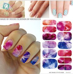 Cheap sticker maker, Buy Quality tool stickers directly from China tool torch Suppliers: Rocooart Water Transfer Foil Nails Art Sticker Colored Bright Crystal Nail Sticker Manicure Decor Tools Nail Wraps Decals Nails Foil, Foil Nail Art, Nail Art Designs 2016, Flower Nail Designs, Purple Manicure, Glitter Manicure, Nail Art Stickers, Nail Decals, Cheap Stickers
