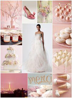 pretty, pink, paris wedding inspiration